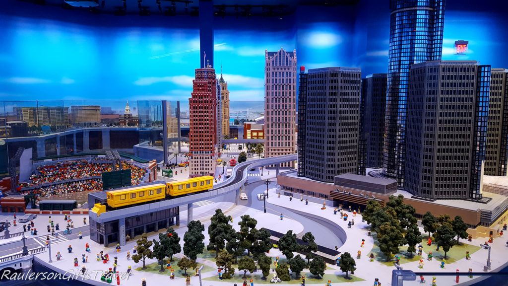 City of Detroit made of legos at Legoland