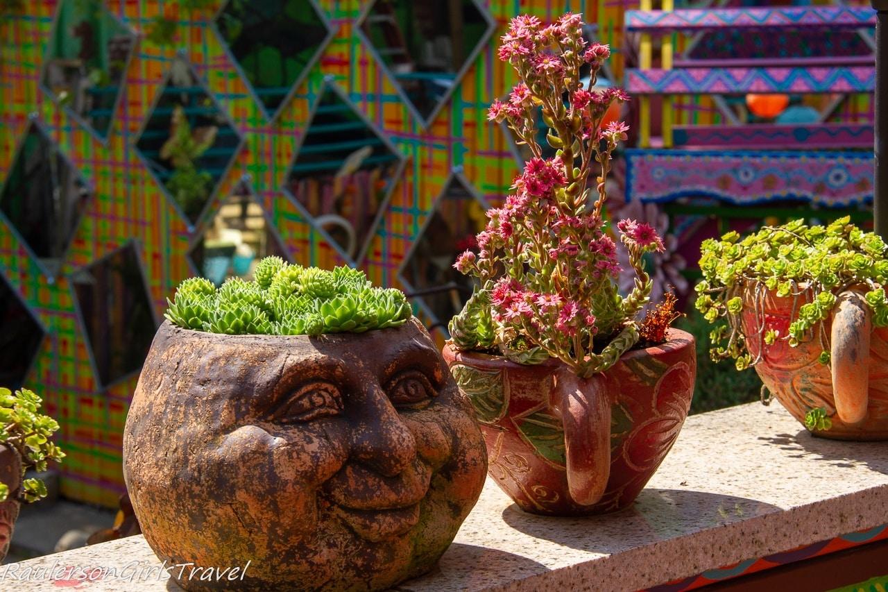 Flower pots at Randyland