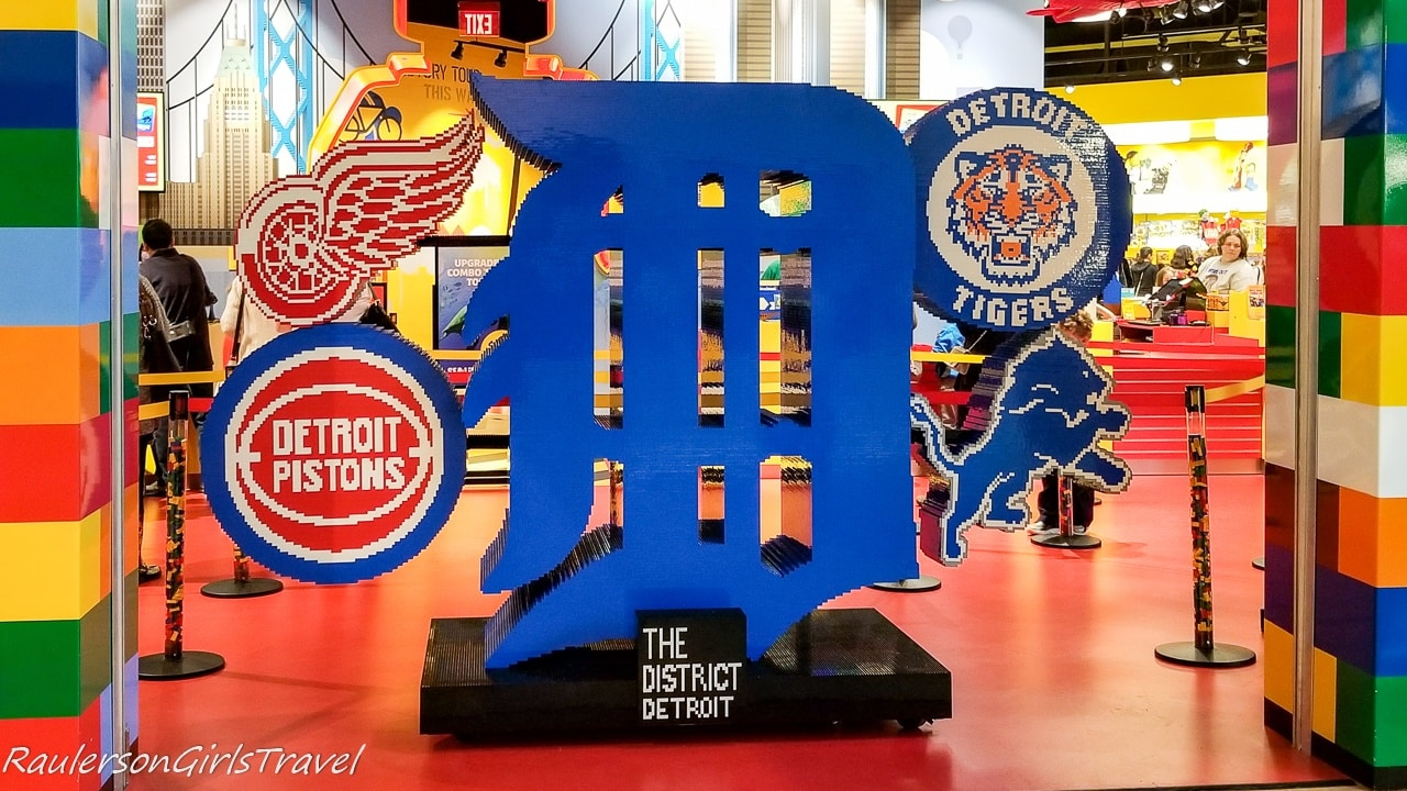 Detroit Sports icons made with legos at Legoland