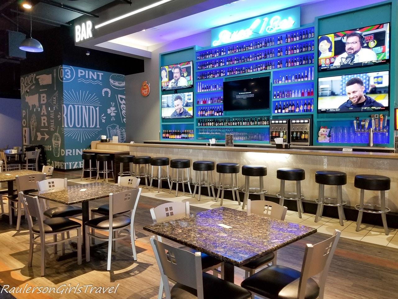 The bar at Round 1