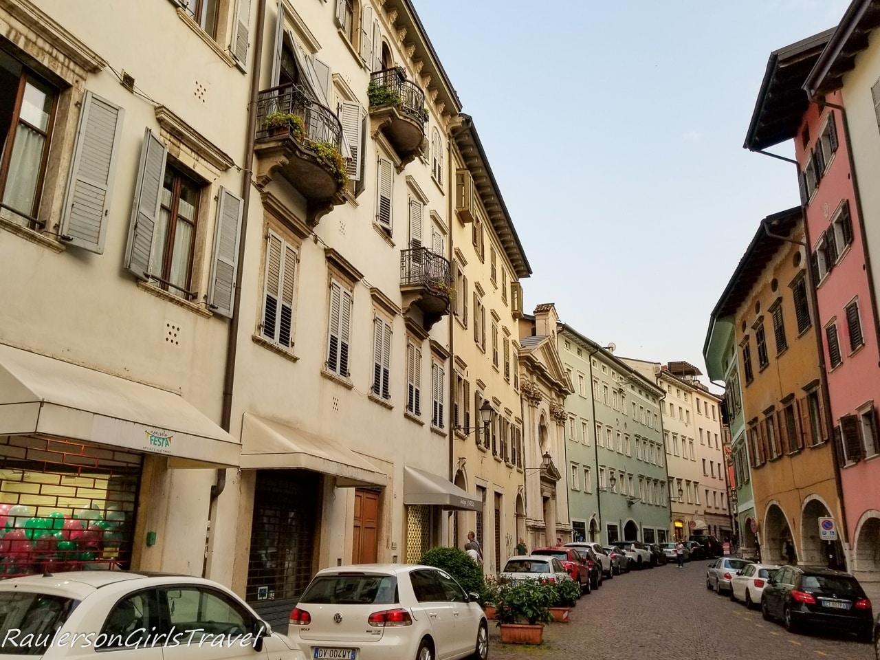 Italian street in Trento