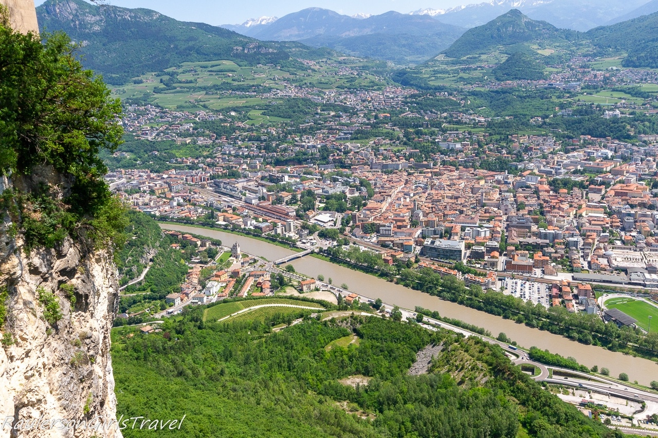 View of Trento from above