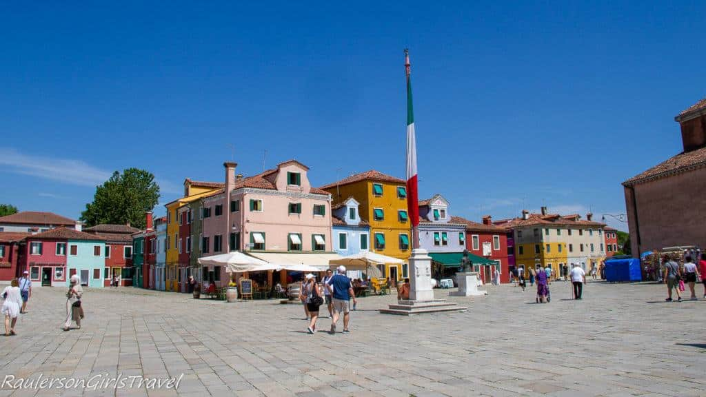 Center square in Burano