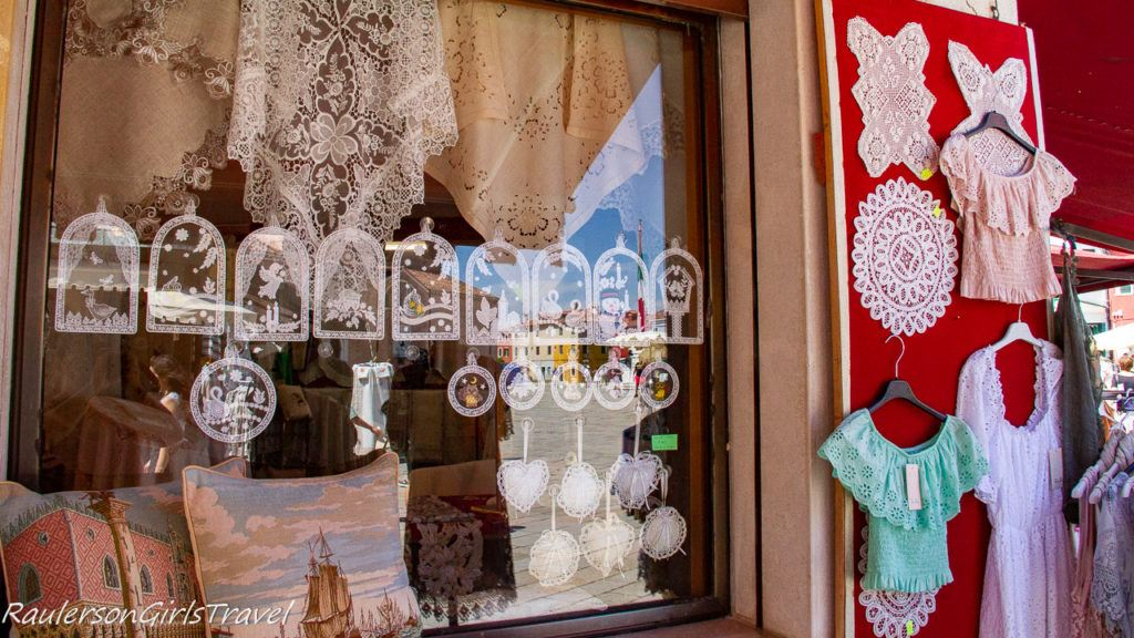Lace made items in Burano