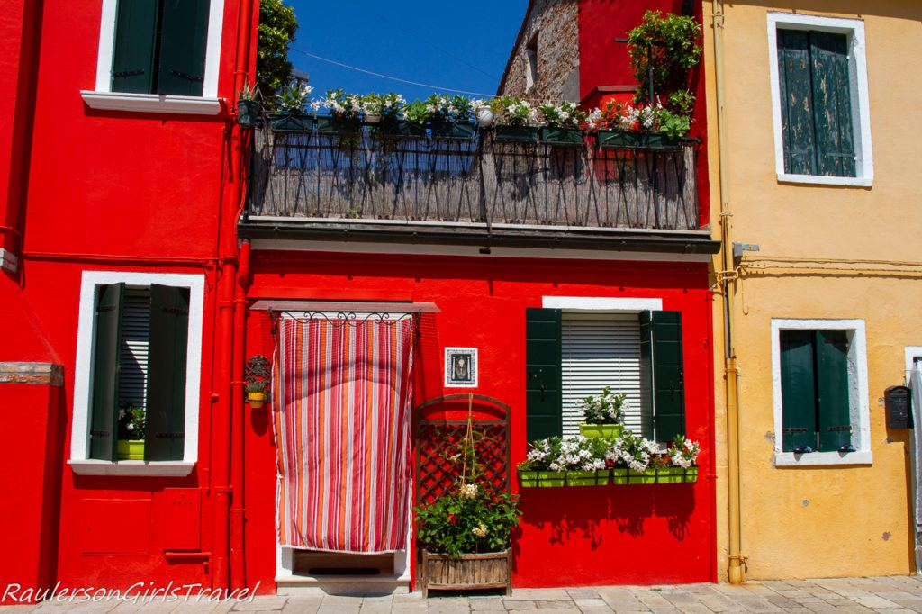 Red house in Burano