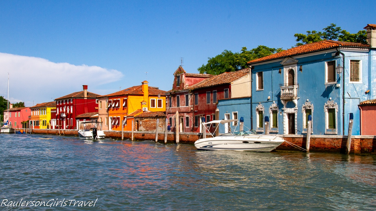 Colorful houses on the island of Mazzorbo