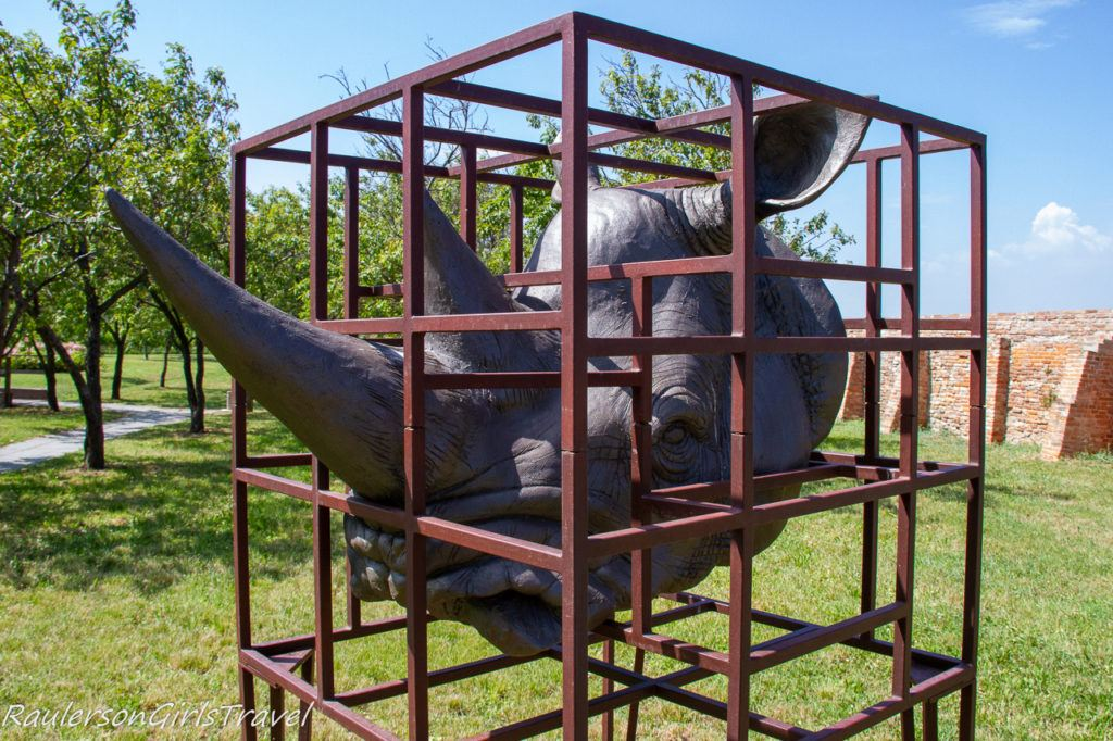 Captured Rhino art at Mazzorbo