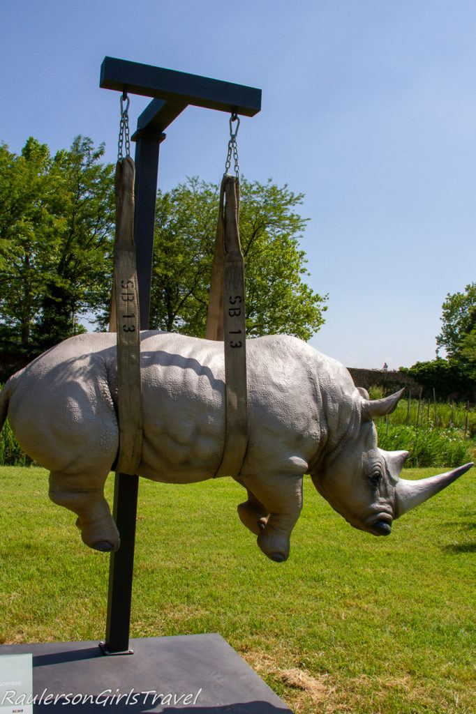Rhino art at Mazzorbo