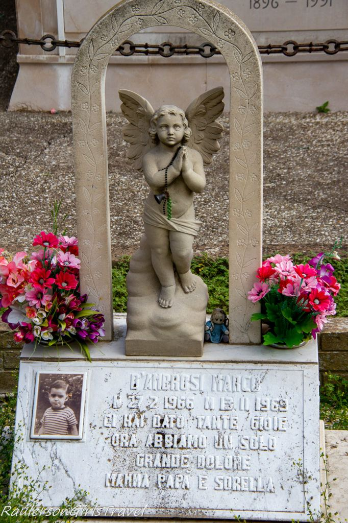 Young boy's grave stone