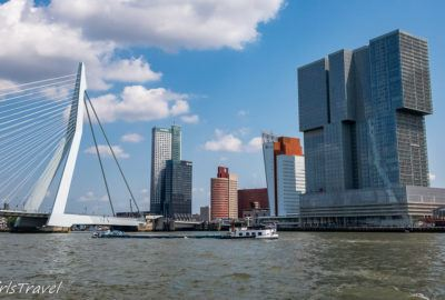 Erasmusbrug and the Rotterdam