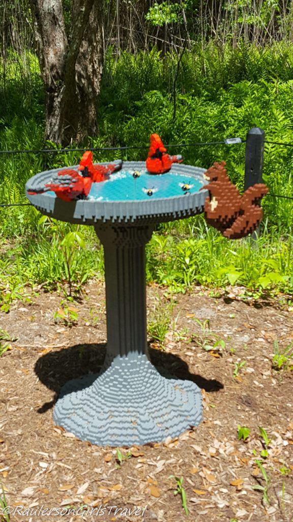 Birds in a birdbath Lego by Sean Kenney