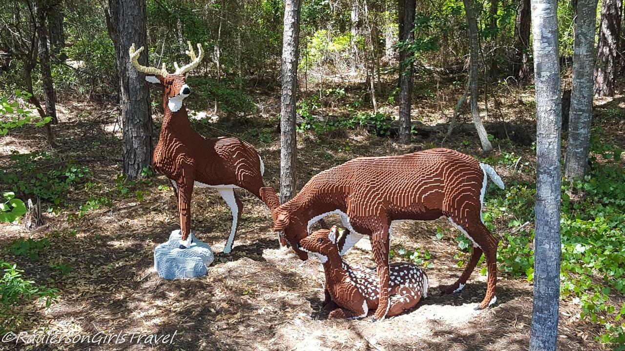 Herd of Deer: Buck, Doe, Fawn Lego by Sean Kenney