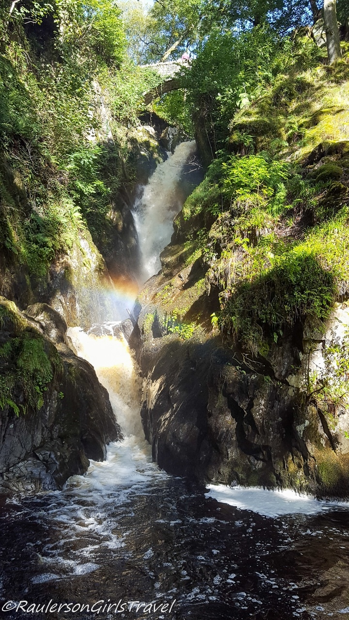 Aria Force waterfall and rainbow