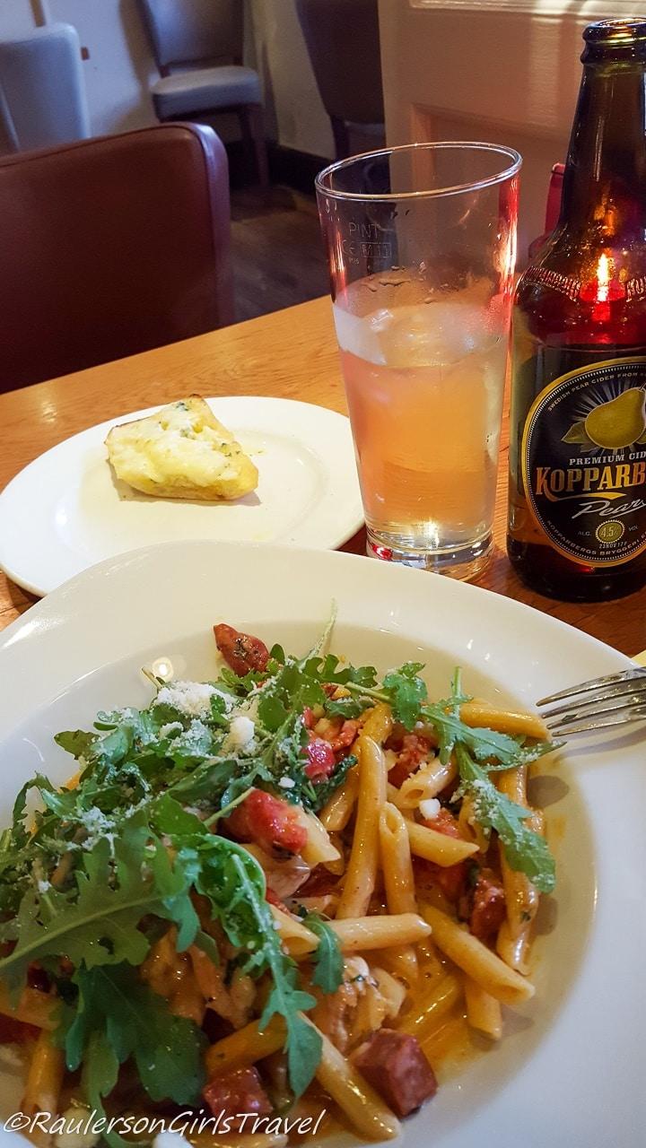 Pasta Meal at Dodd's Restaurant in Ambleside