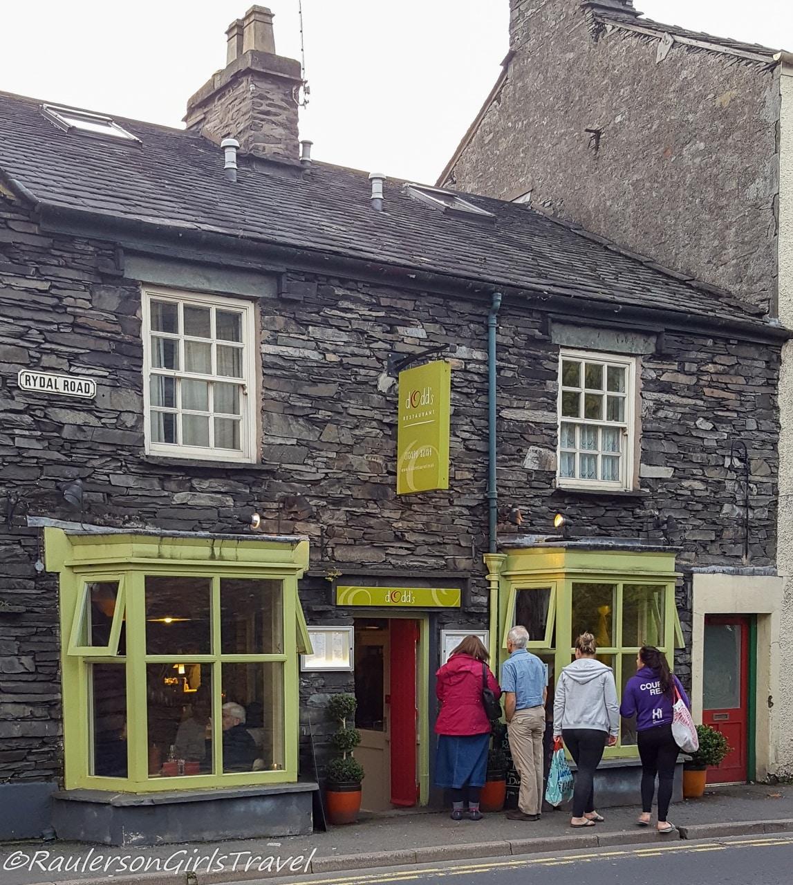 Dodd's Restaurant in Ambleside