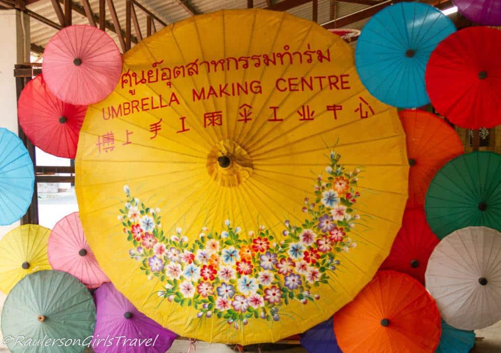 Umbrella Making Center in Bo-Sang Handicraft Village