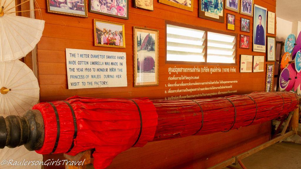 7 meter diameter bamboo hand-made cotton umbrella