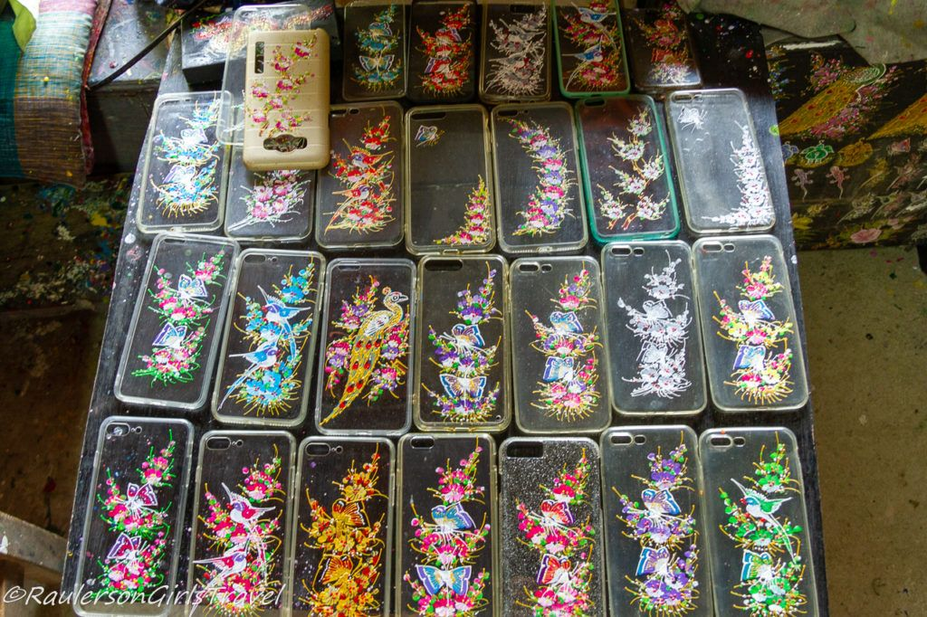 Examples of Hand Painted Phone Cases