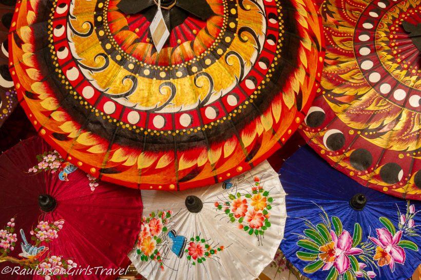 Colorful Umbrellas at Bo-Sang Handicraft Village
