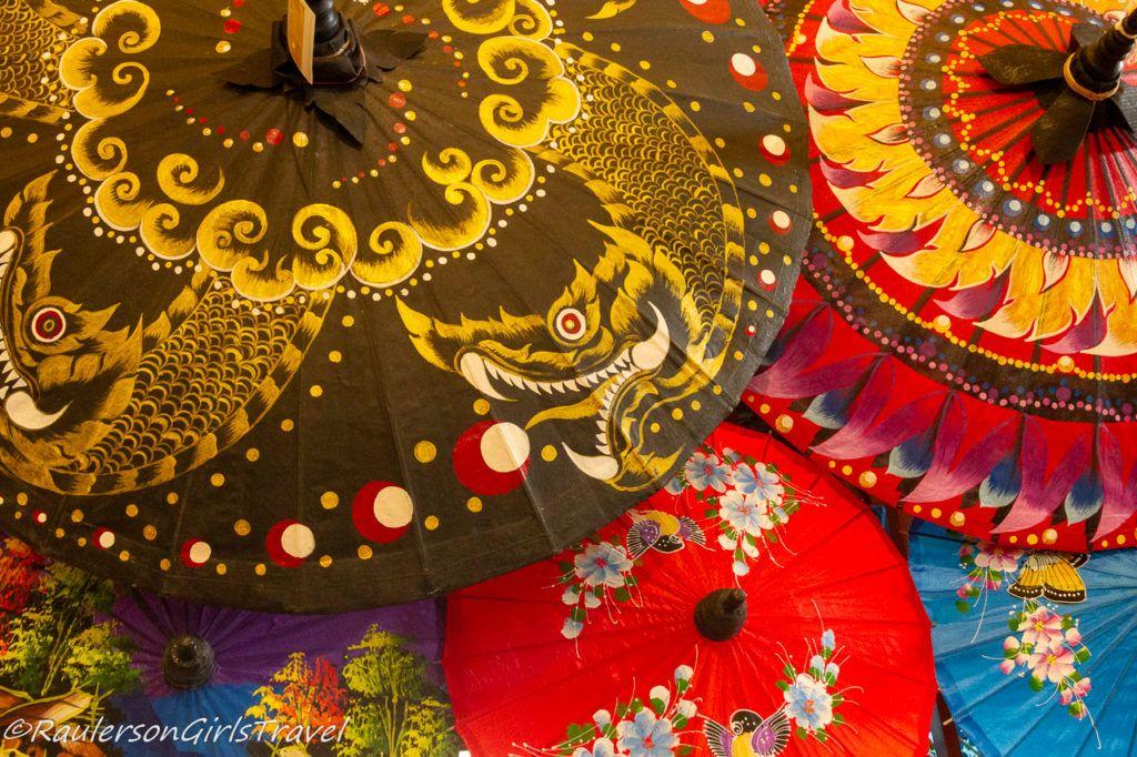 Colorful Painted Umbrellas