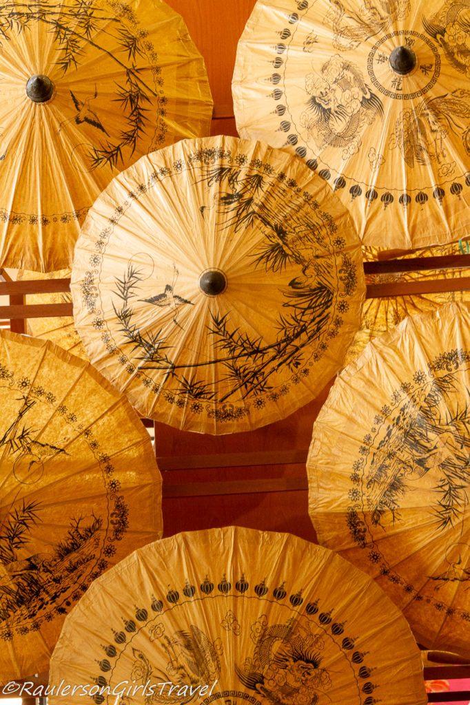 Display of Decorated Umbrellas