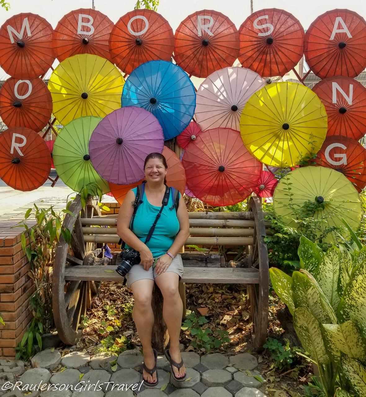 Heather at Romborsang Umbrella Factory