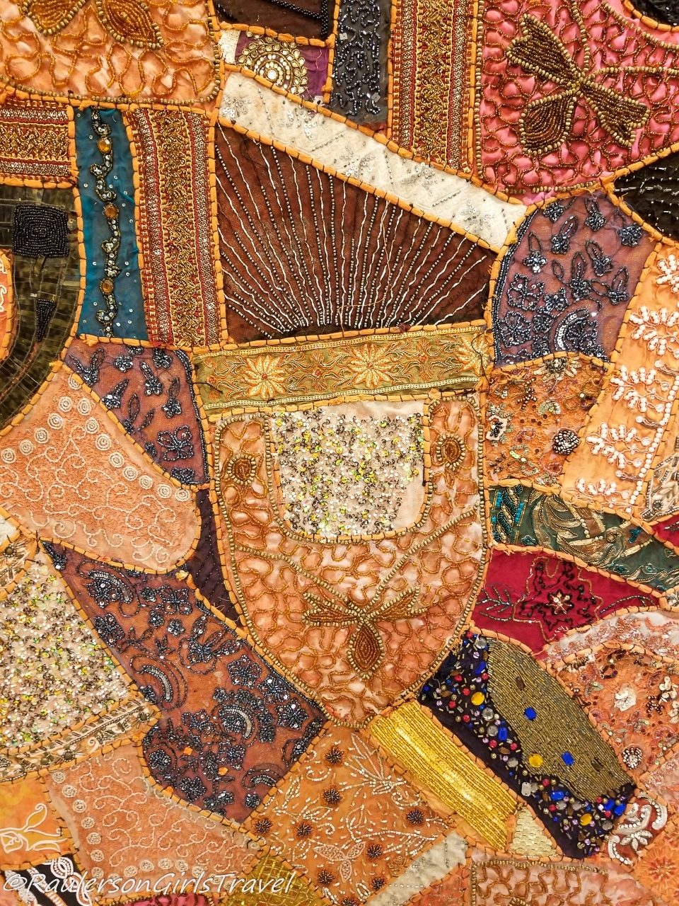 close-up of a kashmir blanket at Sabila Kashmir