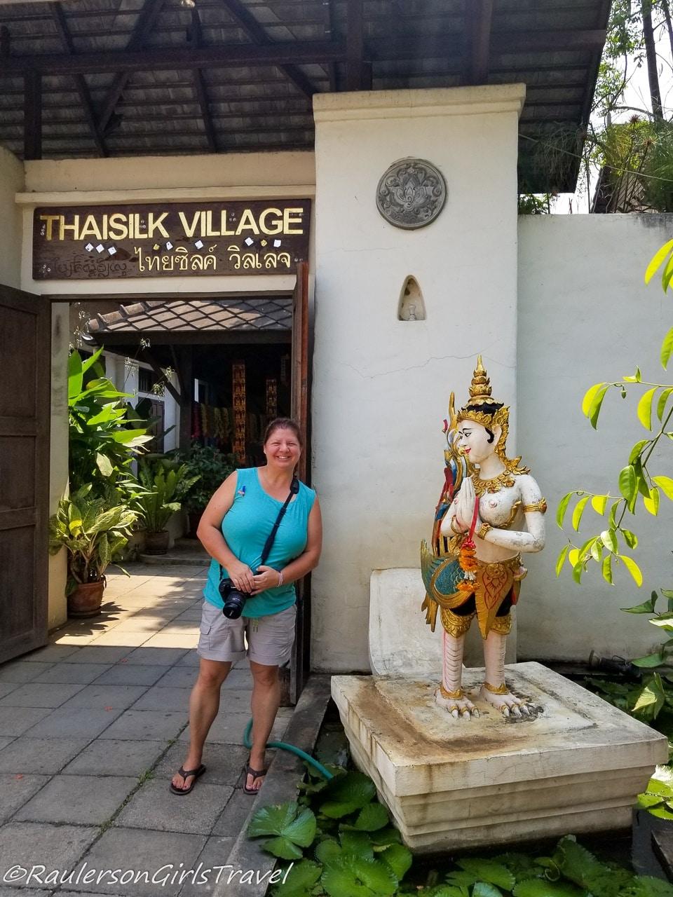 Heather at the Thai Silk Village