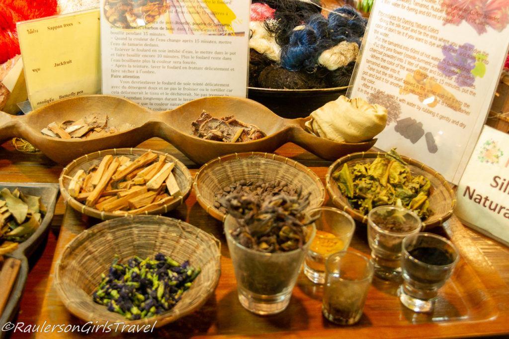Natural ingredients for making silk