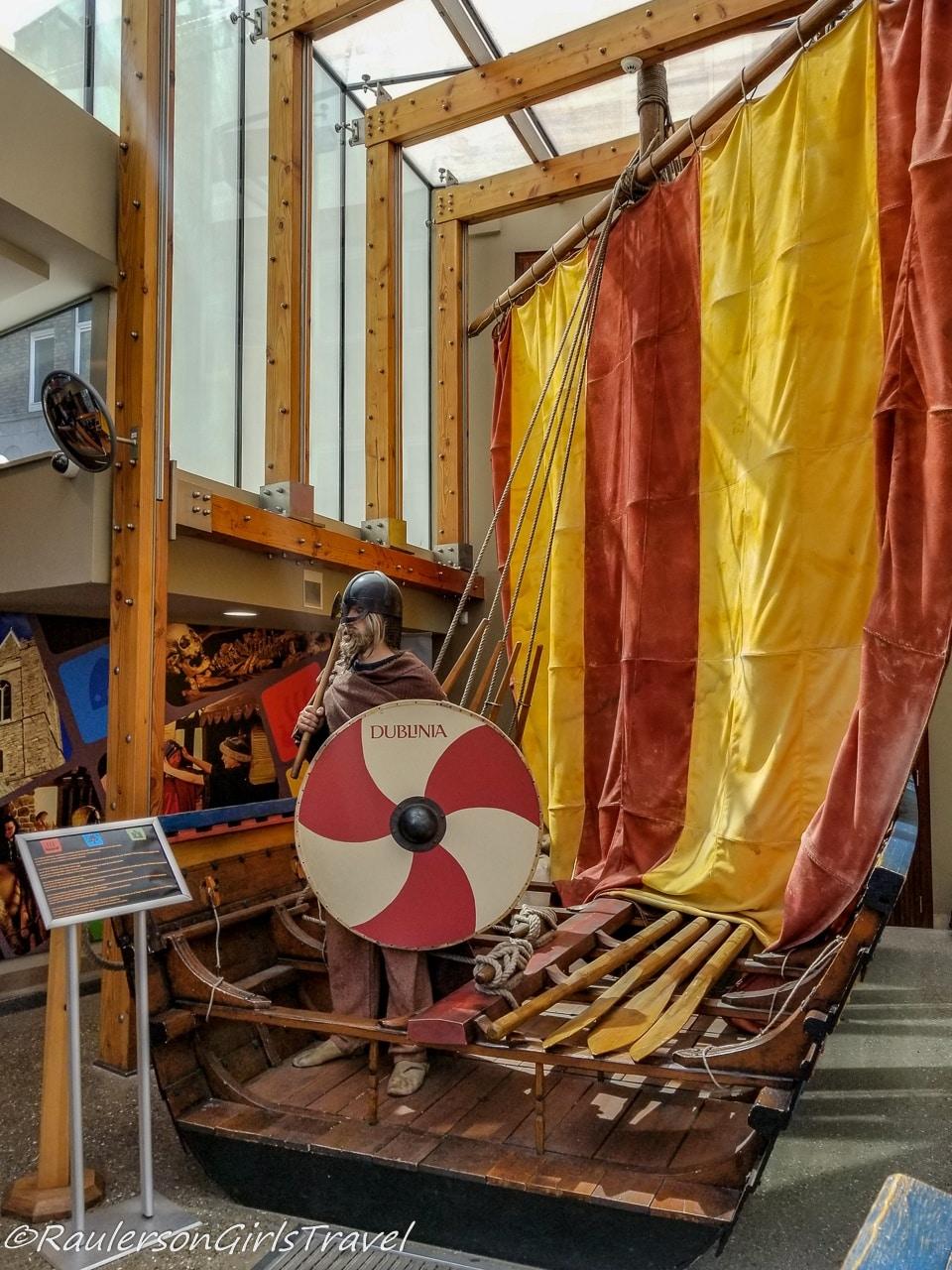 Viking with Boat at Dublina