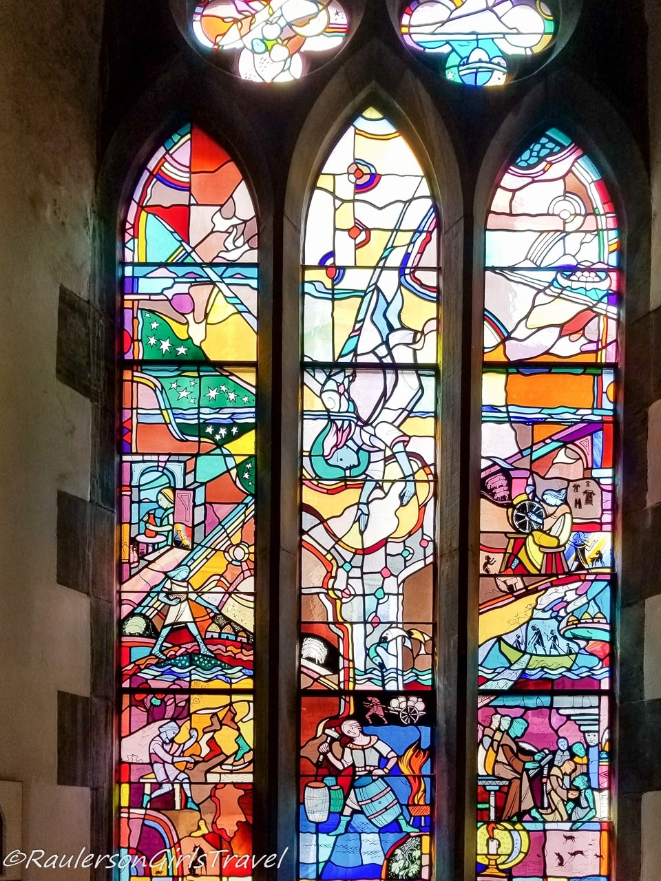 St. Michael's stained glass window