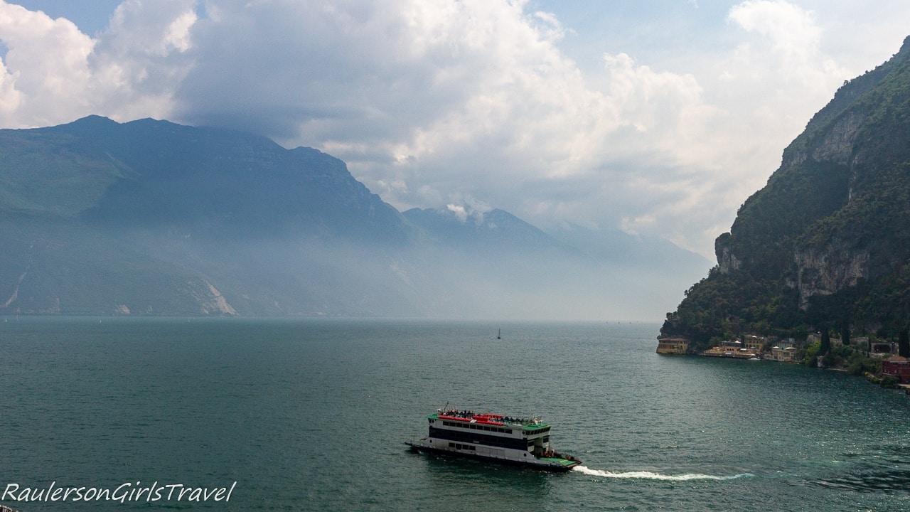Ferry going across Lake Garda