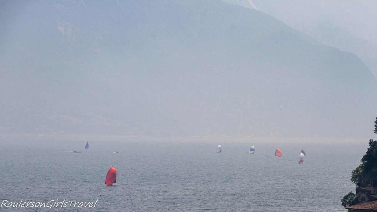 Sailboats on Lago di Garda