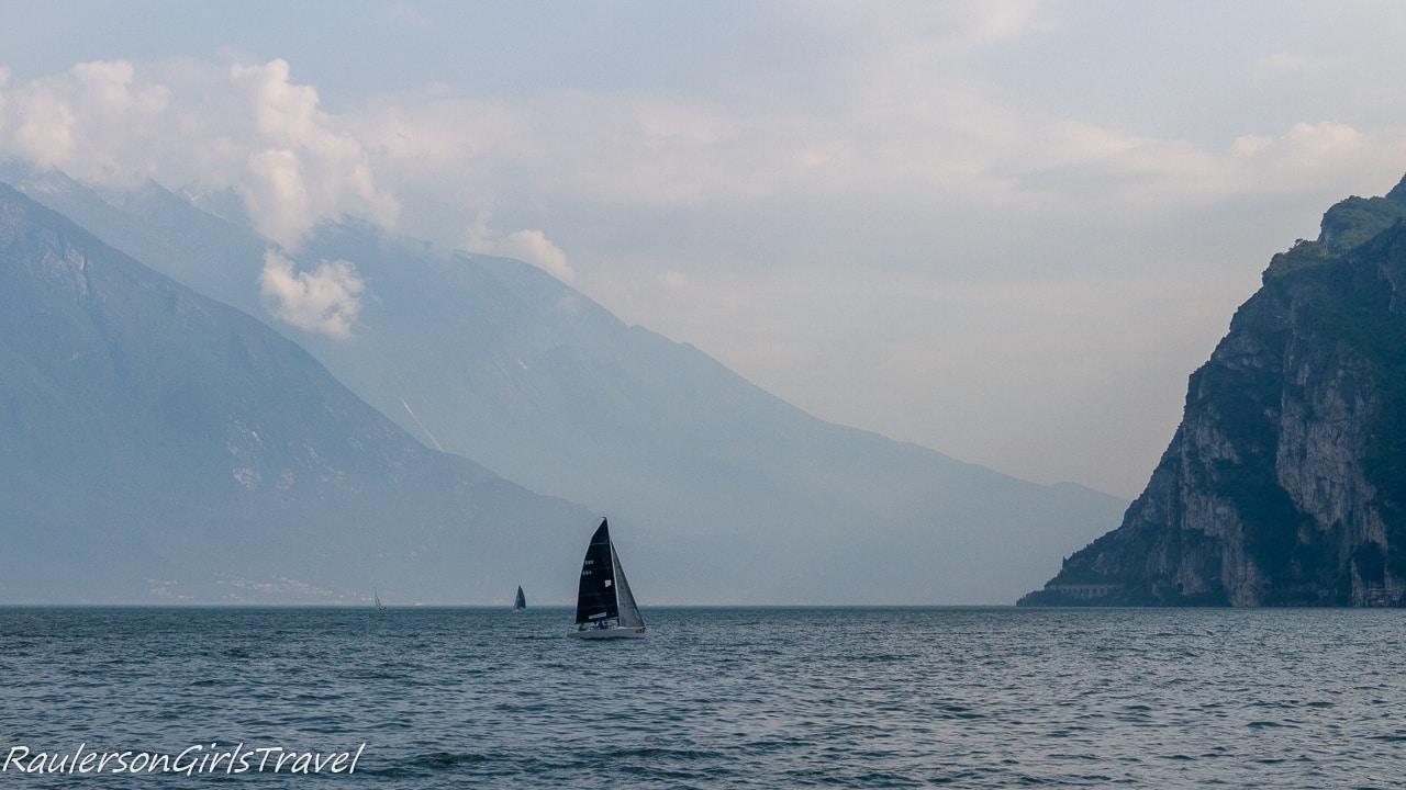 Sailboat on Garda Lake