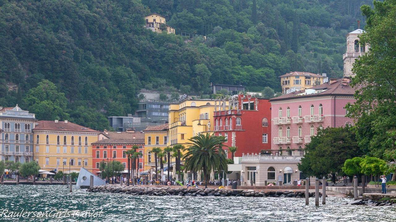 Colorful buildings in Riva del Garda