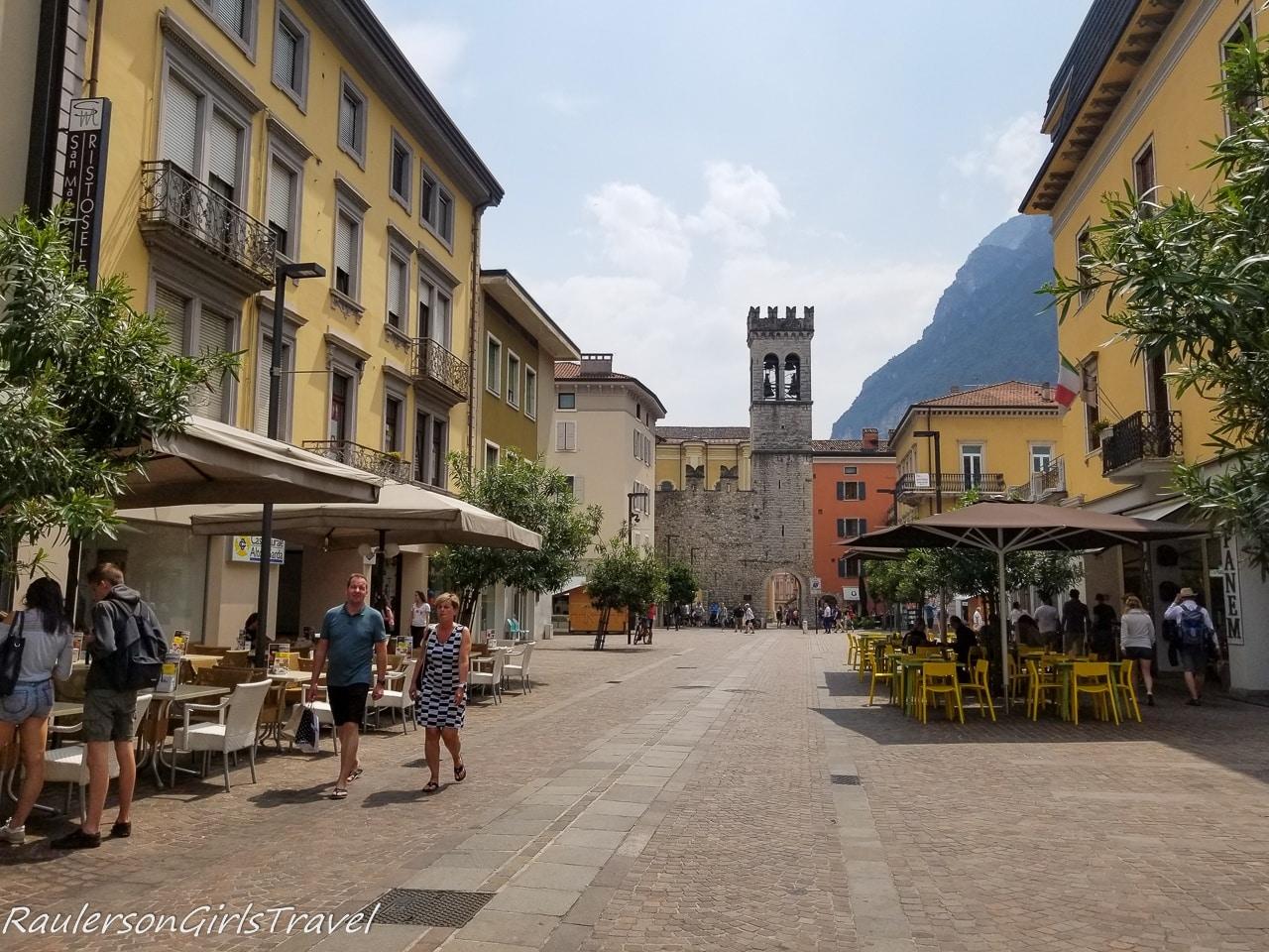 Heading into the town of Riva del Garda