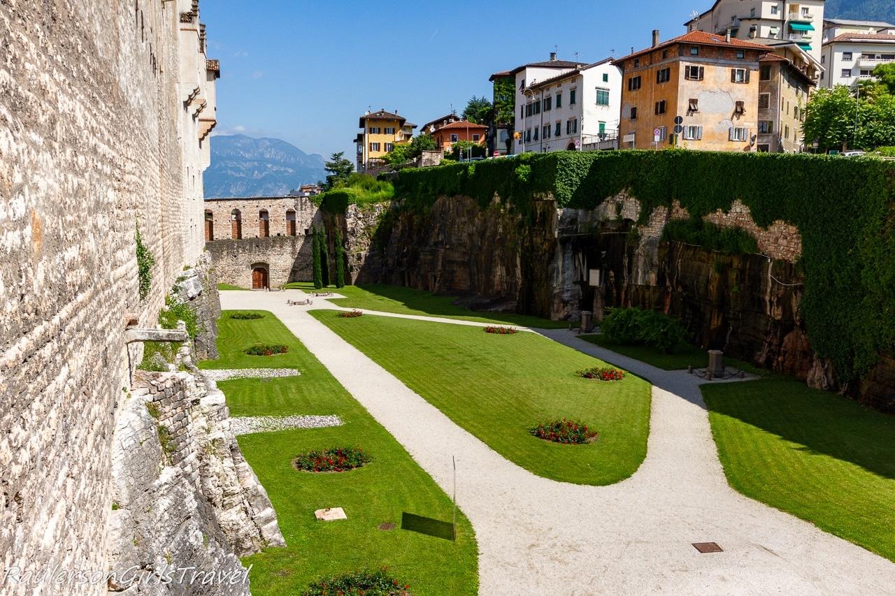 Back gardens at Buonconsiglio Castle