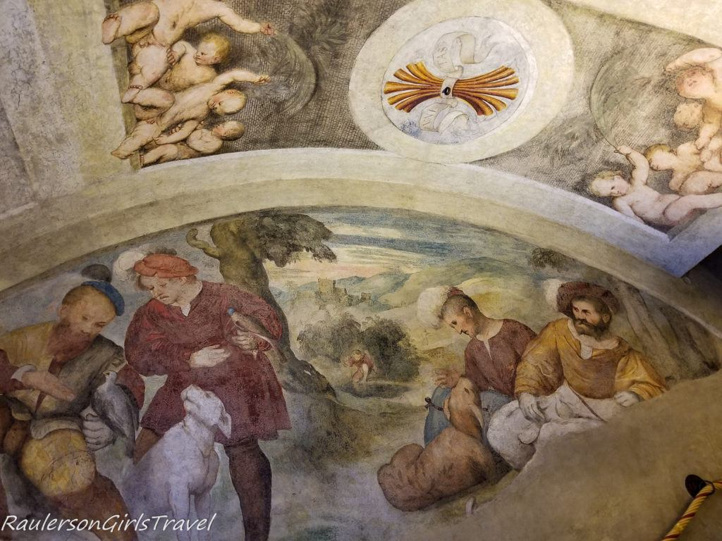Frescoes painted in Magno Palazzo
