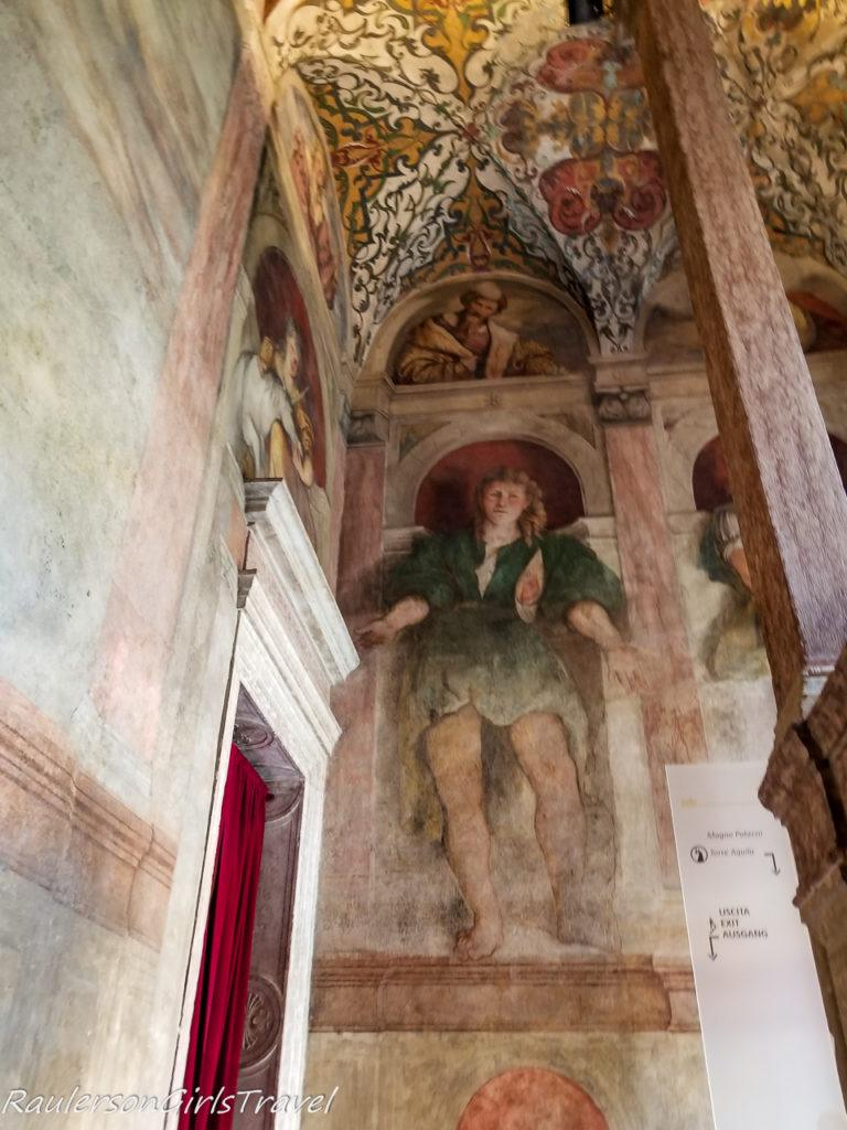 Frescoes painted in the stairway in Magno Palazzo