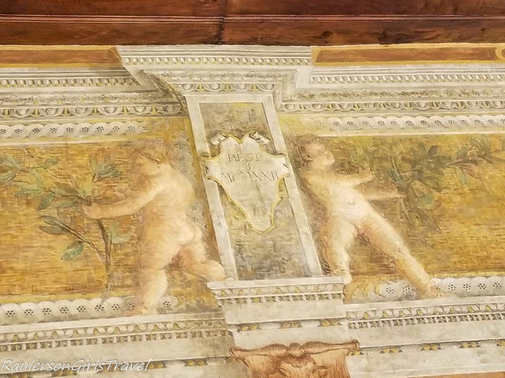 Fresco painted on the ceiling in Buonconsiglio Castle