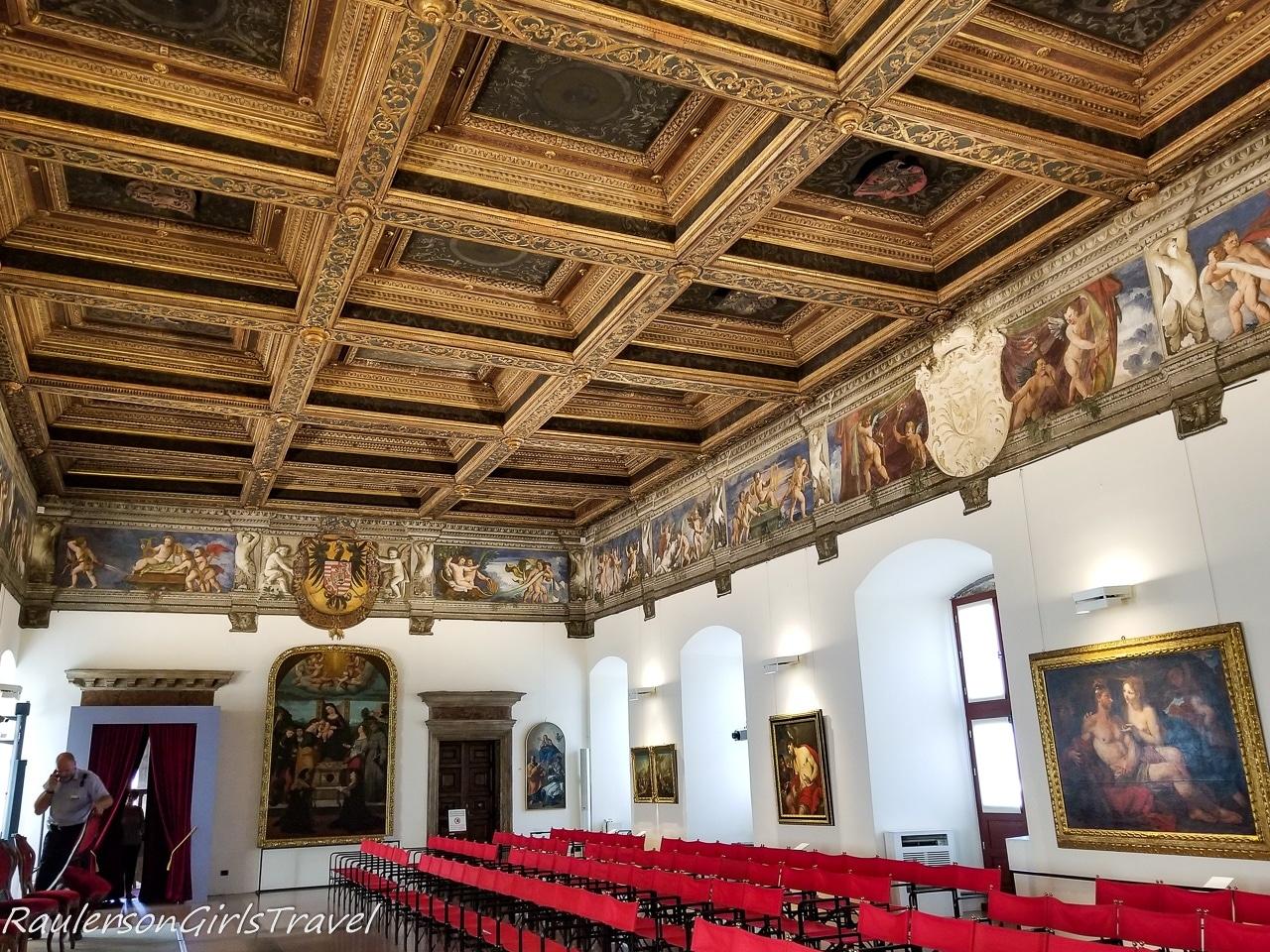 Sala Grande room in Buonconsiglio Castle