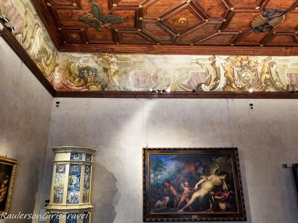 Stua Granda room in Buonconsiglio Castle