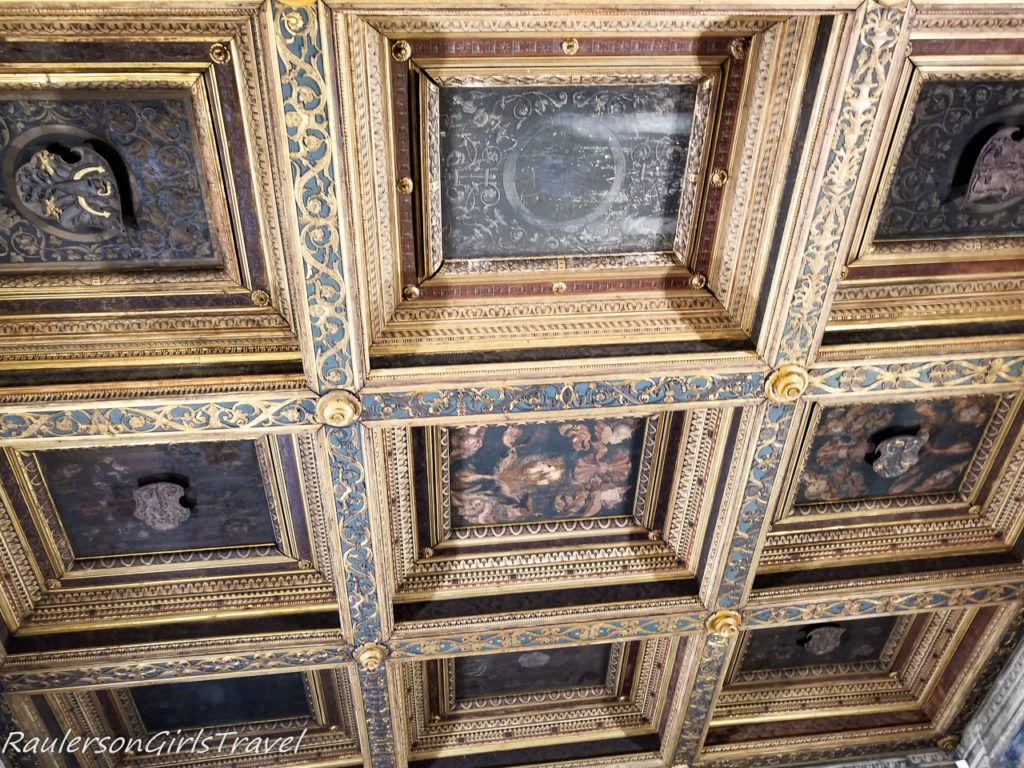 Vaulted ceiling in Buonconsiglio Castle