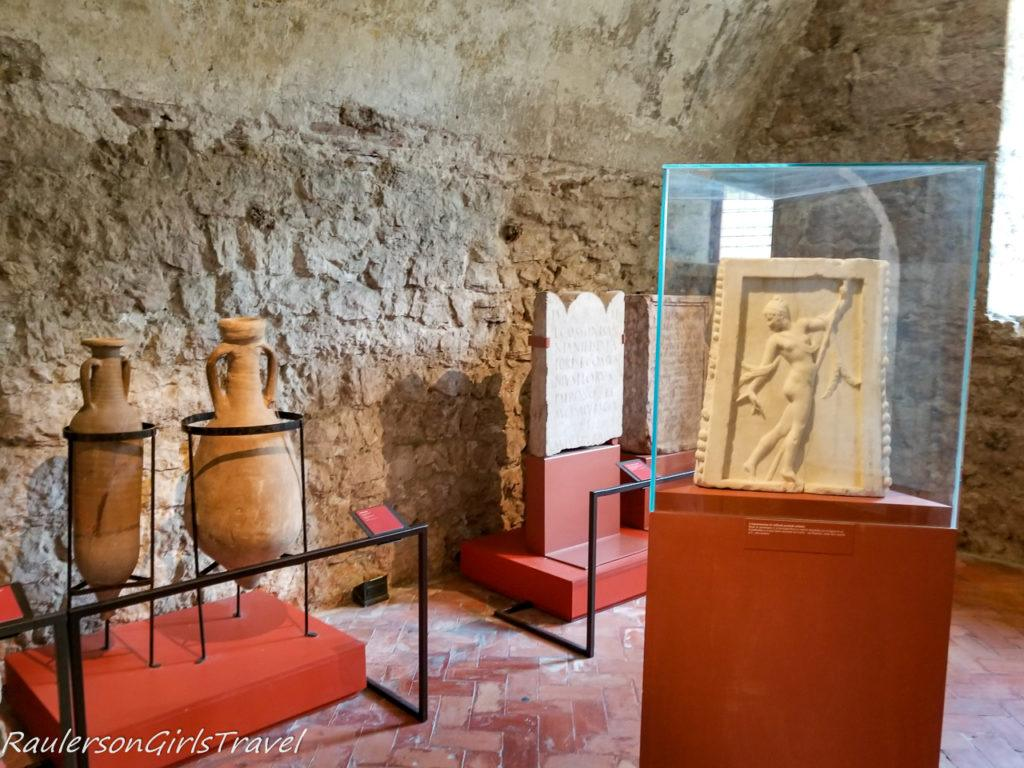 Roman artifacts in the Museum in Buonconsiglio Castle