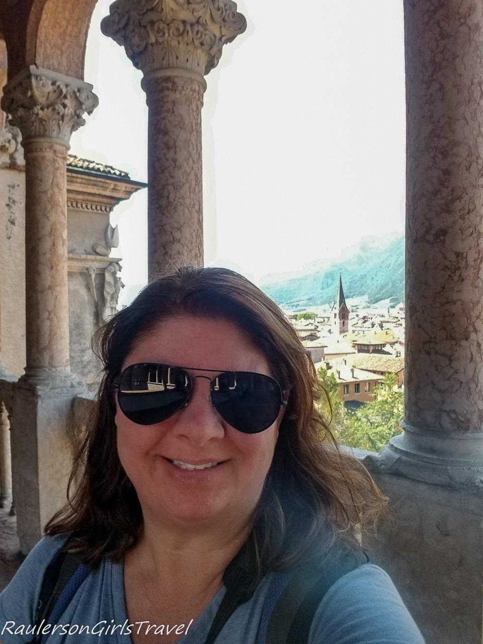 Heather in the Loggia del Romanino