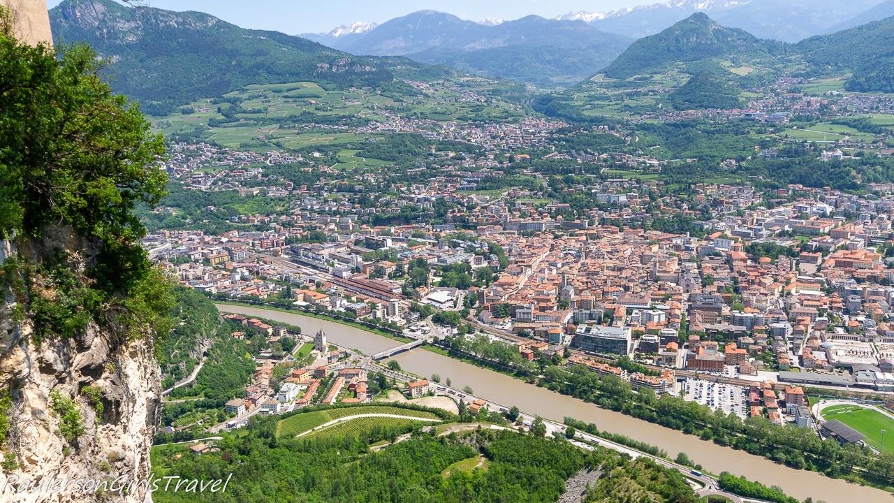View of Trento from Sardagna - Trento Cable Car