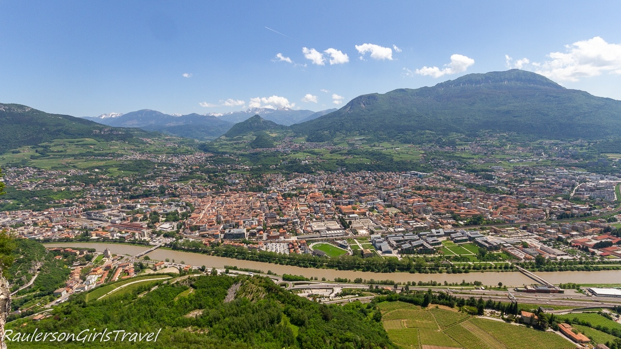 Aerial view of Trento