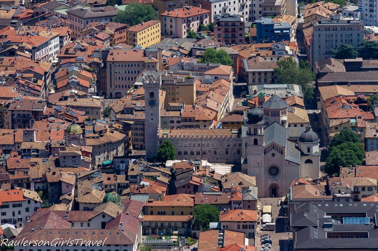 Close-up of the Trento City Center