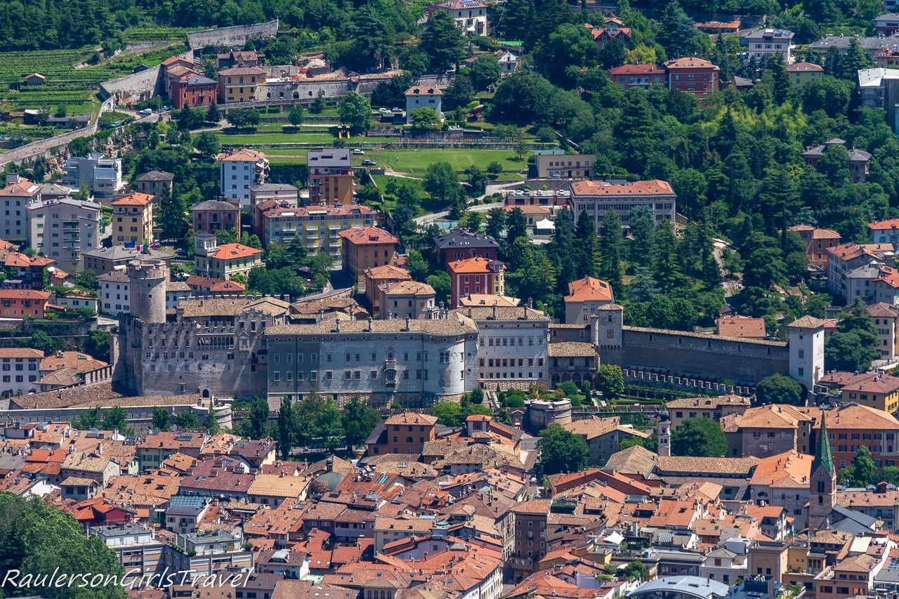 Aerial View of Buonconsiglio Castle from Mount Bodone