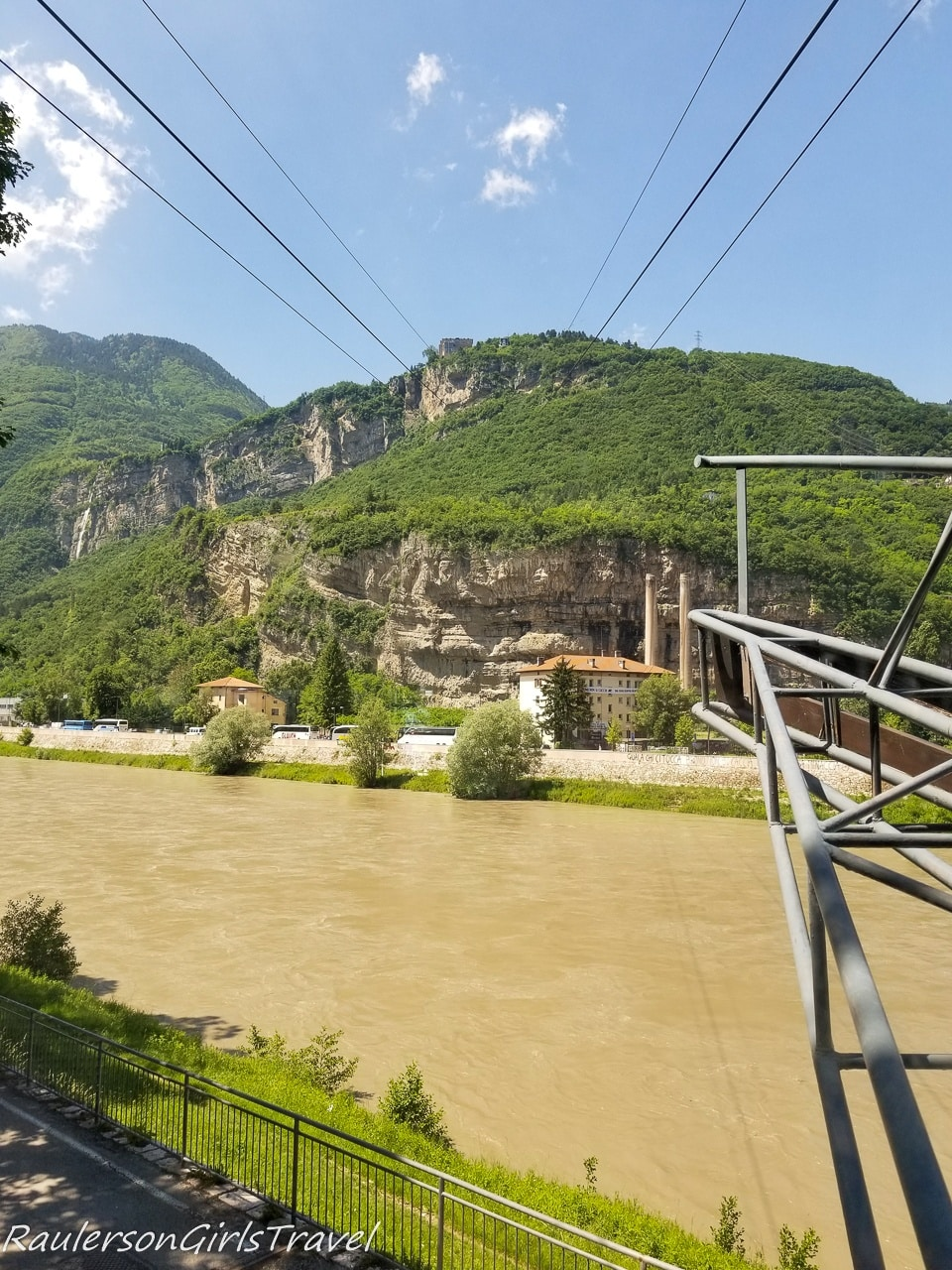 View from the Trento Cable Car at the station
